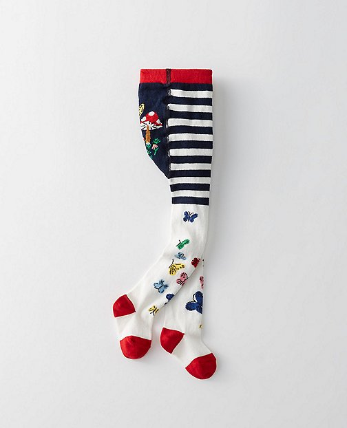 Baby Pitter Pattern Tights by Hanna Andersson