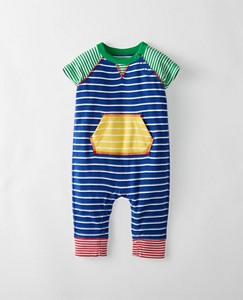 Baby Stripey All In One In Organic Cotton Romper by Hanna Andersson