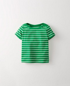 Toddler Stripey Boatneck Tee In Organic Cotton by Hanna Andersson