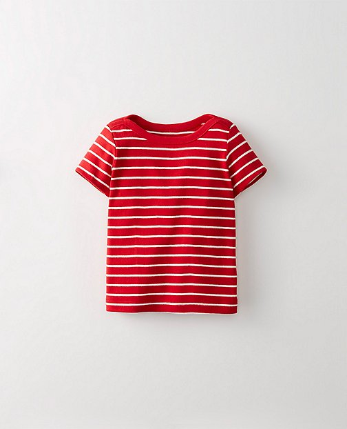 Baby Stripey Boatneck Tee In Organic Cotton by Hanna Andersson