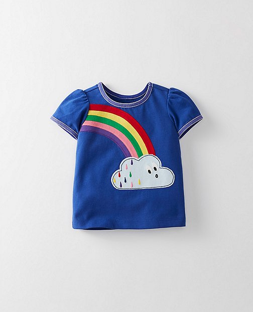 Toddler Appliqué Tee In Supersoft Jersey by Hanna Andersson