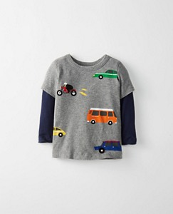 Toddler Double Sleeve Art Tee In Supersoft Jersey by Hanna Andersson