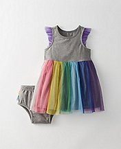 Toddler Rainbow Tulle Dress Set by Hanna Andersson