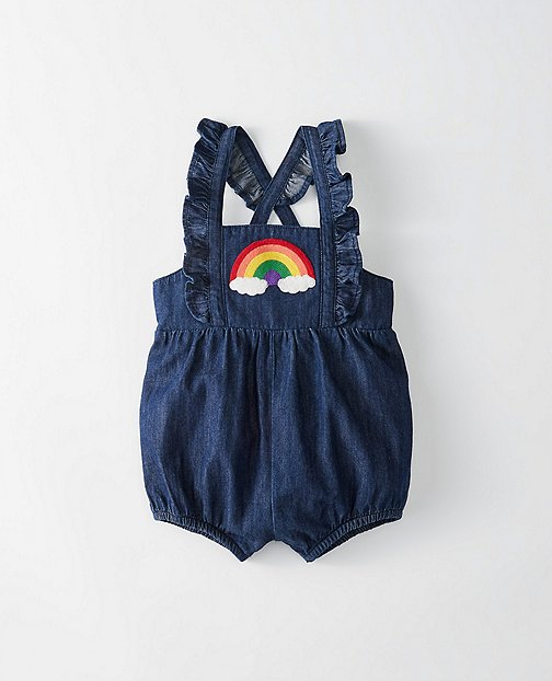 Toddler Rainbow Ruffle Shortalls by Hanna Andersson