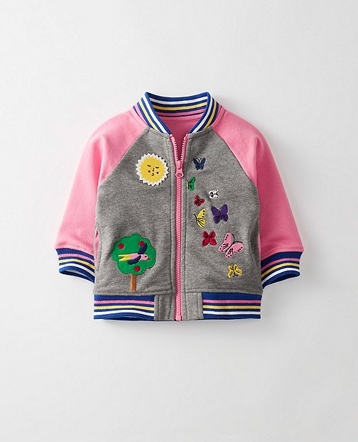 Toddler Supersoft Baseball Jacket In French Terry by Hanna Andersson