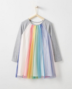 Girls Rainbow Tulle Dress by Hanna Andersson