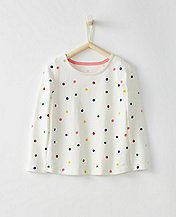 Girls Breton Dot Top  by Hanna Andersson