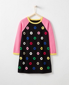 Girls Hearts + Flowers Sweater Dress by Hanna Andersson