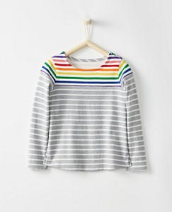 Girls Breton Rainbow Top by Hanna Andersson