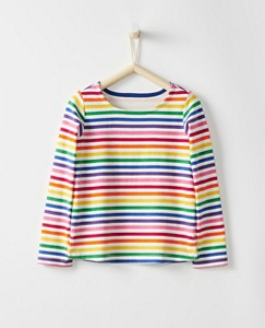 Girls Breton Stripe Top by Hanna Andersson