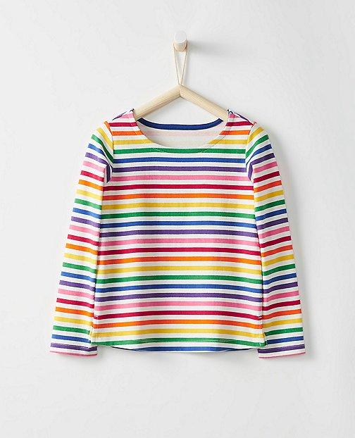 Girls Breton Stripe Top by Hanna Andersson