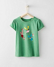 Girls Shimmer Art Tee by Hanna Andersson