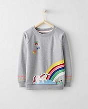 Girls Rainbow Sweatshirt In French Terry by Hanna Andersson