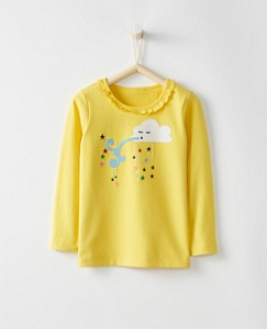 Girls Appliqué Tee In Supersoft Jersey by Hanna Andersson