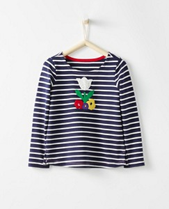 Girls Breton Appliqué Top by Hanna Andersson