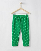Girls Flocked Dot Capri Leggings by Hanna Andersson
