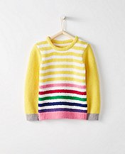 Girls Marshmallow Stripe Sweater by Hanna Andersson
