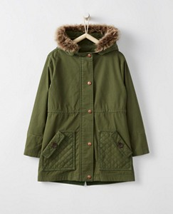Girls Quiled Canvas Utility Jacket by Hanna Andersson