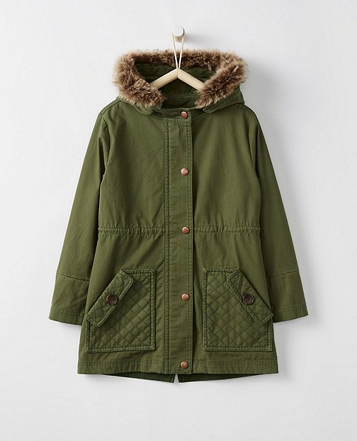 Girls Canvas Utility Jacket by Hanna Andersson