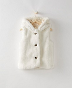 Girls All Fur It Hooded Vest by Hanna Andersson