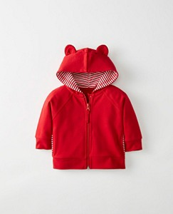 Baby Bear Hoodie In French Terry by Hanna Andersson