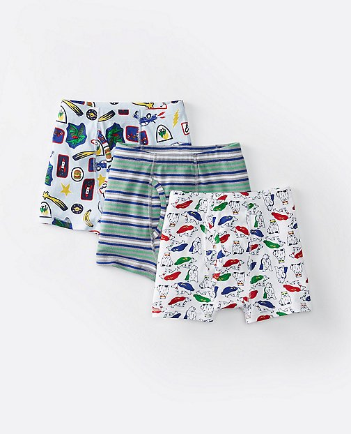 Boys Boxer Briefs In Organic Cotton 3 Pack by Hanna Andersson