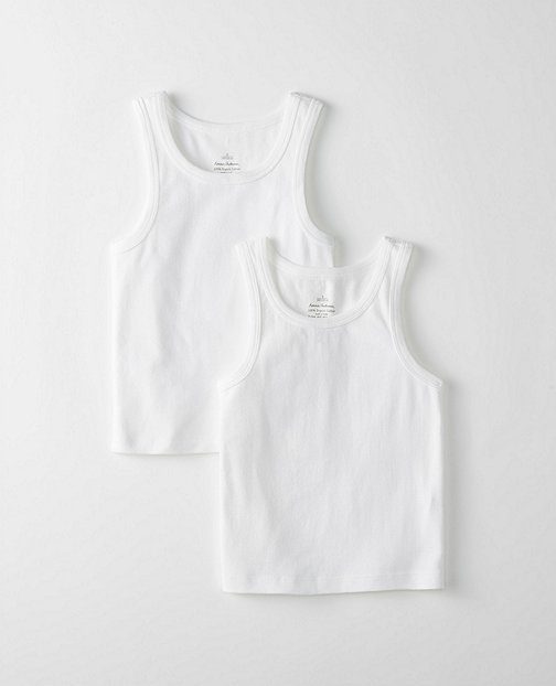 Boys Tank Undershirt 2 Pack In Organic Cotton by Hanna Andersson