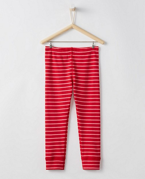 Girls Cropped Opposite Stripe Loose Leggings by Hanna Andersson