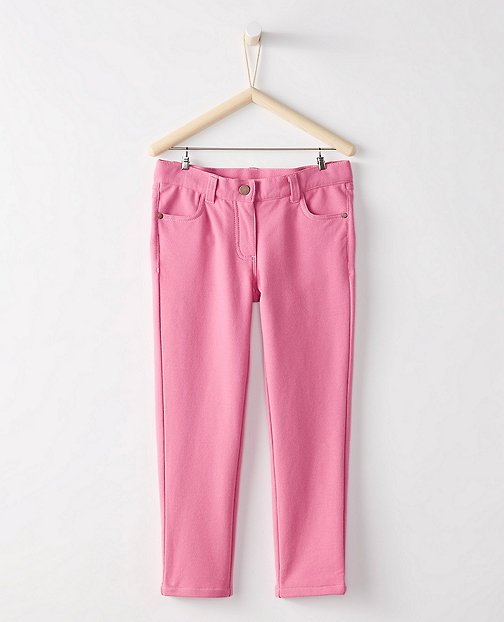 Girls French Terry Knit Jeans by Hanna Andersson