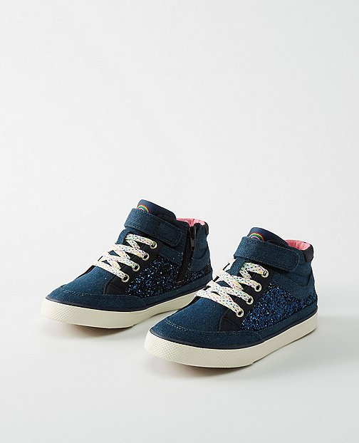 Girls Teo Glitter High Tops By Hanna