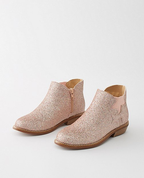 Girls Krista Glitter Ankle Boots By Hanna