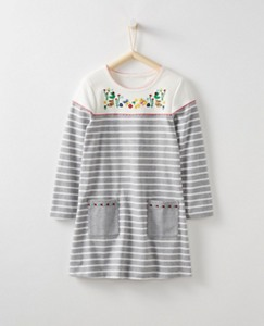 Girls Embroidered Breton Pocket Dress by Hanna Andersson