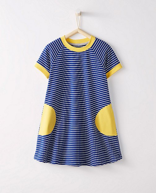 Girls Circle Pocket Dress In French Terry by Hanna Andersson