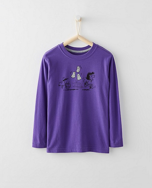 Peanuts Kids Glitter Tee In Supersoft Jersey by Hanna Andersson