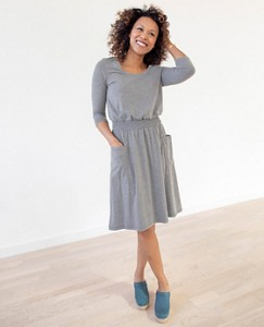Women Soft Smocked Slipover Dress by Hanna Andersson