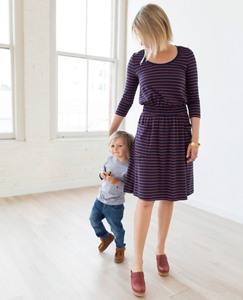 Women Simple Dress in Stretch French Terry by Hanna Andersson