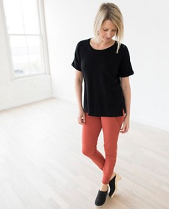 Women French Terry Tee In 100% Cotton by Hanna Andersson