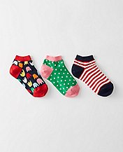 Kids Sporty Shorty Socks 3 Pack    by Hanna Andersson