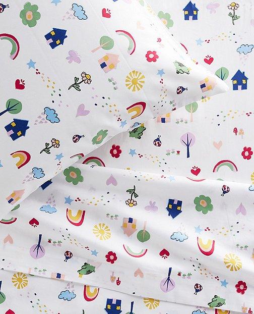 HannaSoft™ Happy House Pillowcase by Hanna Andersson