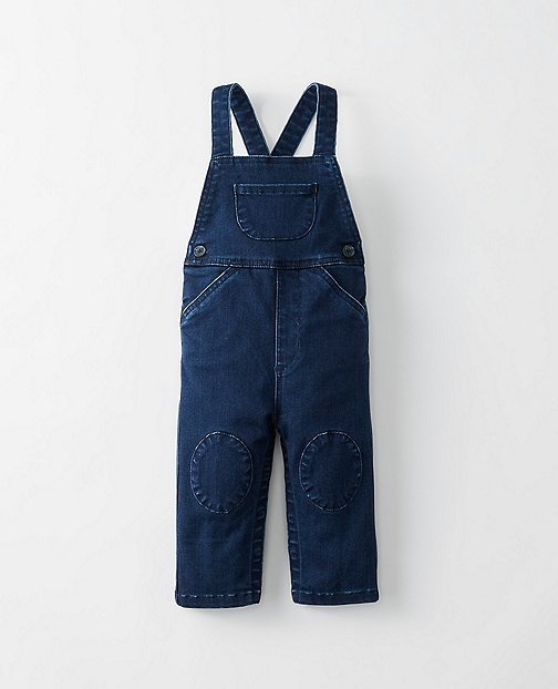 Toddler Supersoft Overalls In Stretch Denim by Hanna Andersson
