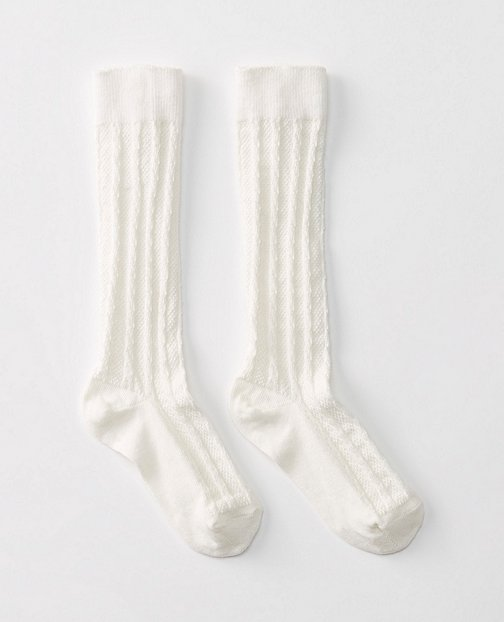 Girls Cable Knee Socks by Hanna Andersson