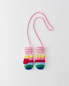 Baby Fleece Lined Stripey Mouse Mittens by Hanna Andersson