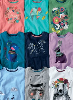 Shop Girls art tees a gallery of softness