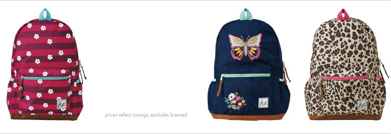 Shop Girls 50% off backpacks