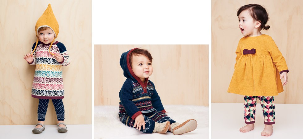 Looks for littles; cozy textures and easy-peasy designs