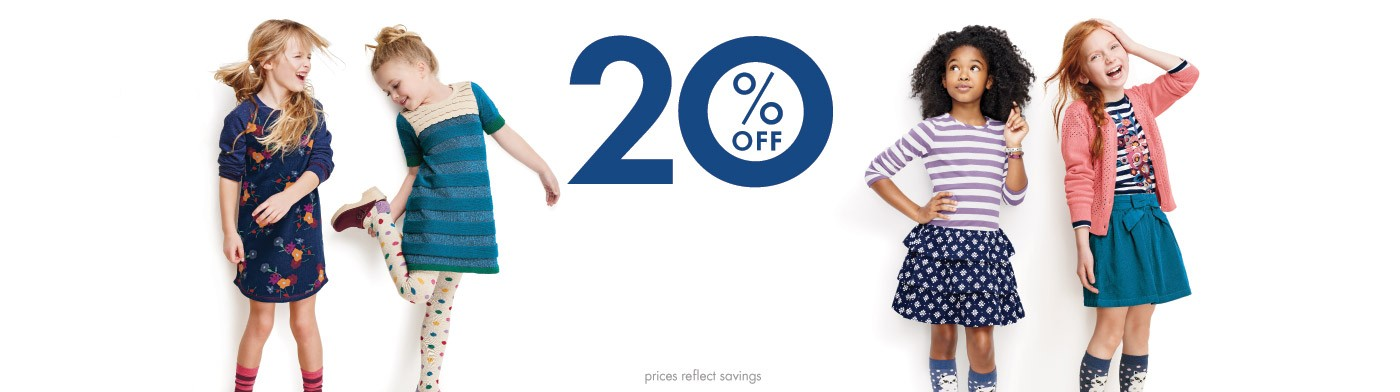 20% Off All Girls Dresses and Skirts Including new arrivals through Sunday
