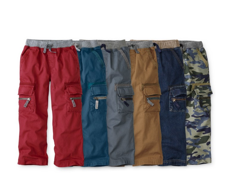 epic cargos -- save on cozy-rugged cotton cargos with a supercomfy waist, now $32, regularly $45