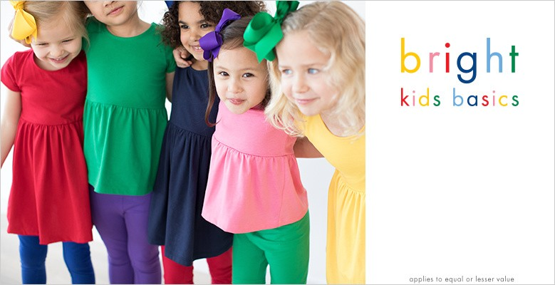 bright kids basics everyday rugged and soft buy 1, get 1 50% off equal or lesser value shop now