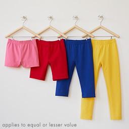 buy 1, get 1 50% off bright kids basics equal or lesser value