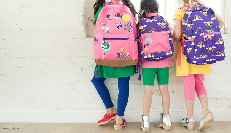 25% off backpacks just the right size